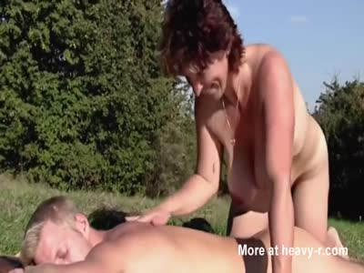 Outdoor Massage With Mature