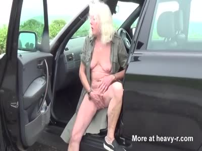 Granny In Outdoor Masturbation