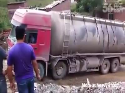 Truck Towing Fail