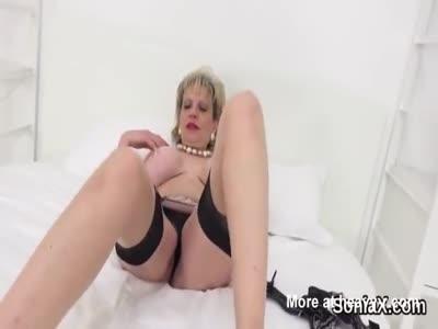 Unfaithful british milf gill ellis shows her monster hooters