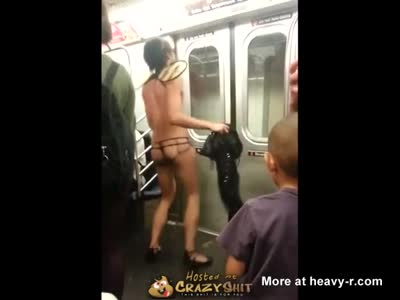 Gay Bee Dancing In Subway