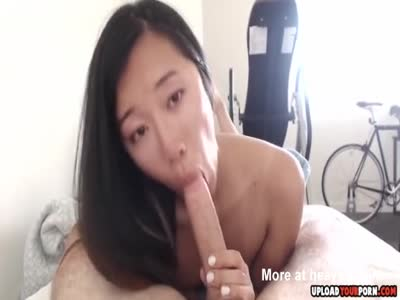 Asian Slut Giving Me A Sloppy Blowjob