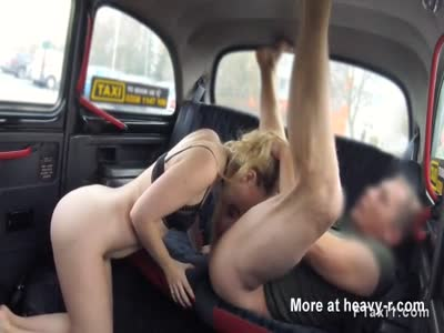 Fake taxi driver bangs and cums blonde