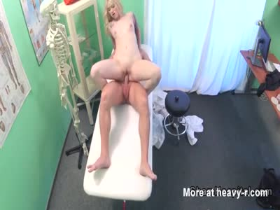 Beautiful Blonde Patient Riding Doc