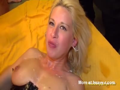 Latex Slut Gangbanged