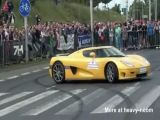 Koenigsegg Crashing Into Crowd
