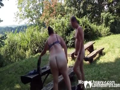 Made a sex tape outdoors