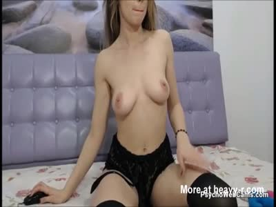 Hot Babe in Sexy Black Lingerie Live on cam Now