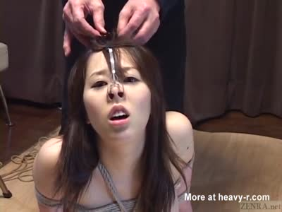 Bound Asian Nose And Wax Tortured