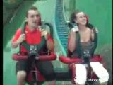 Tits fall out on roller coaster ride