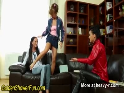 Lesbian Piss Threesome