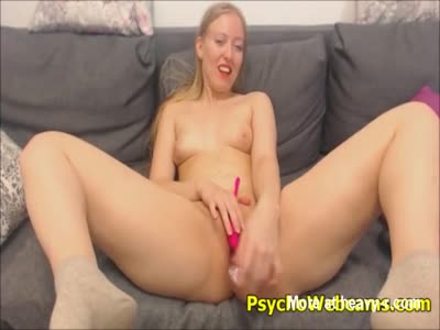 Russian Teen Blonde 19 Years Old Toying