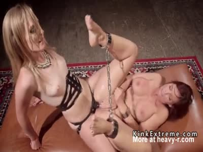 Chained Lesbian Fucked In Ass