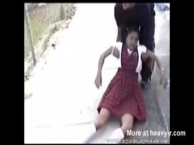Strangled Schoolgirl