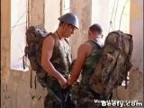 Beefy Military Gay Outdoor Fuck