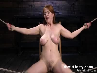 Natural huge tits redhead whipped