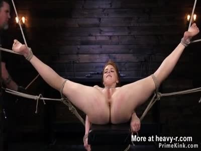 Huge Tits Redhead Whipped In BDSM