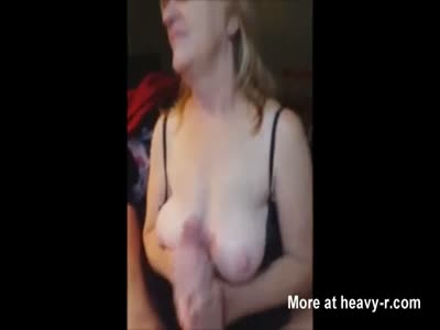 Handjob By Busty Wife