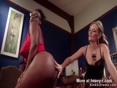 Interracial lesbian otk spanking
