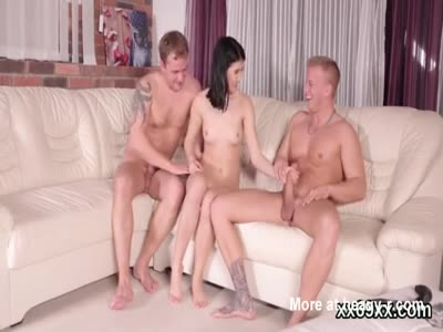 Girl Jerking Two Friends