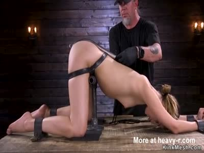 Strapped Blonde Gets Her Ass Whipped