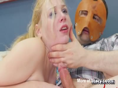 Poor Blonde Forced To Suck Deep
