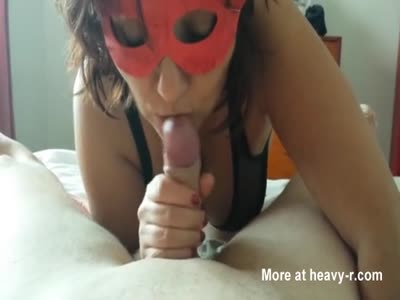 Masked Blowjob For Young Boy