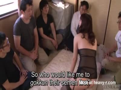 Subtitled japanese gokkun swallowing party with chigusa hara 5