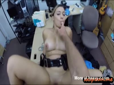 Police Officer Pawns Her Pussy