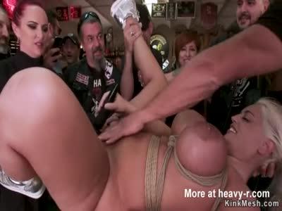 Bikers public anal fucks big tits blonde