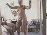 Older woman dancing
