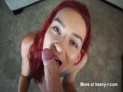 POV Blowjob By Redhead Teen