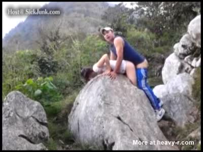 Brother And Sister Have A Quickie While Mountain Climbing