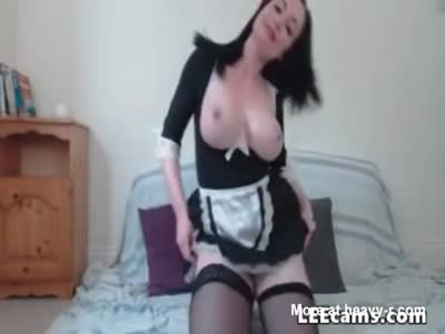 Busty Housekeeper Anal Dildo Fucking