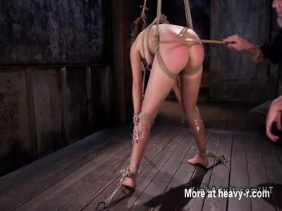 Ass Caning Hogtied Slave Teen
