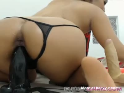 Girl Fucking Her Ass And Pussy With Big Toys