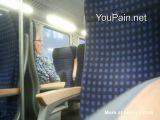 Public Cumshot On Woman In Train