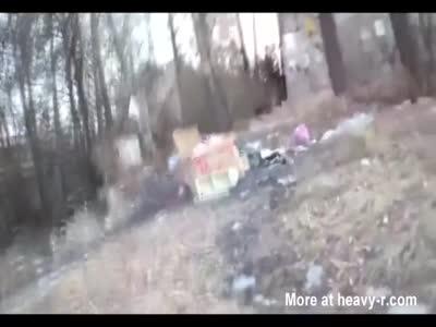 Russian Kids Carve Up Dead Woman