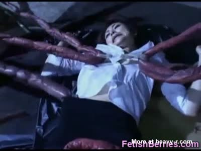 Scared Girl Undressed By Tentacles