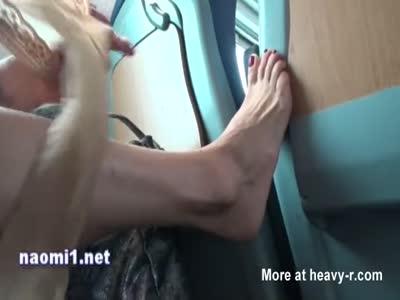 Masturbating In Train