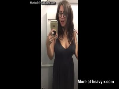 Hot Bitch Shows Off Her Perfect Tits While In A Planes Bath