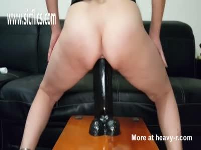 Enormous Dildos Stretch Out Greedy Pussy