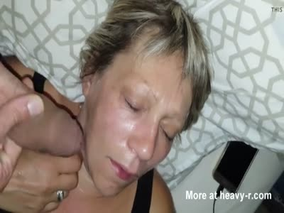 Cumshot On Sleeping Wife