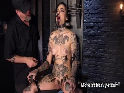 Inked Slave In Bondage Chair