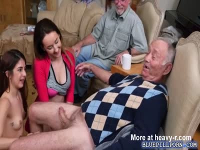 Granddaughters Sucking Off Grandpa