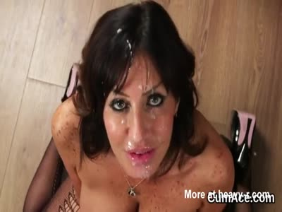 Mature Centerfold Spermed On Her Face