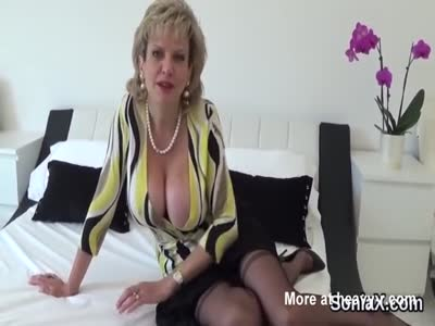 Unfaithful english milf lady sonia showcases her gigantic bo