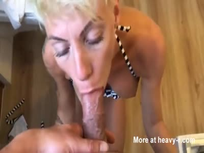 Mature Sucking Cock In POV