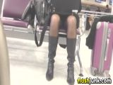 Upskirt At The Airport