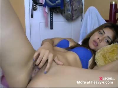 Latina Masturbating In Hot House